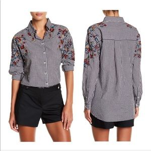 Beach Lunch Lounge Emelia Embroidered Shirt XS
